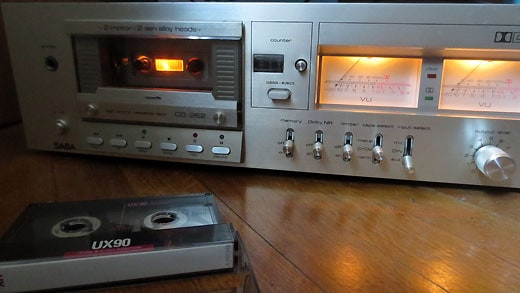 Cassette deck used for sampling.